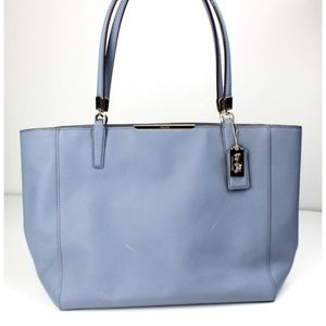 COACH Madison Saffiano Leather Tote Handbag